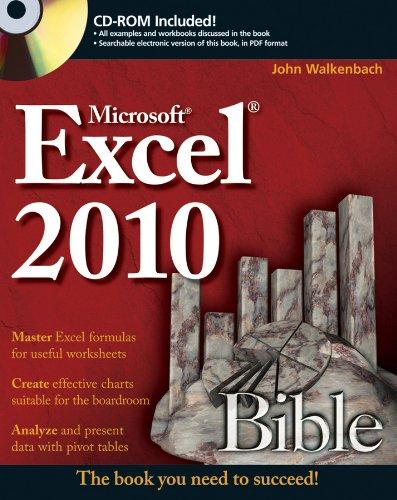 Excel 2010 Bible by John Walkenbach