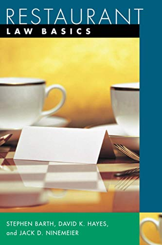Restaurant: Law Basics by Stephen C. Barth