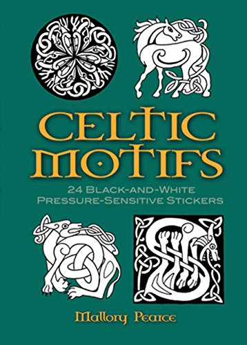 Celtic Motifs: 24 Black-and-White Pressure-Sensitive Stickers by Mallory Pearce
