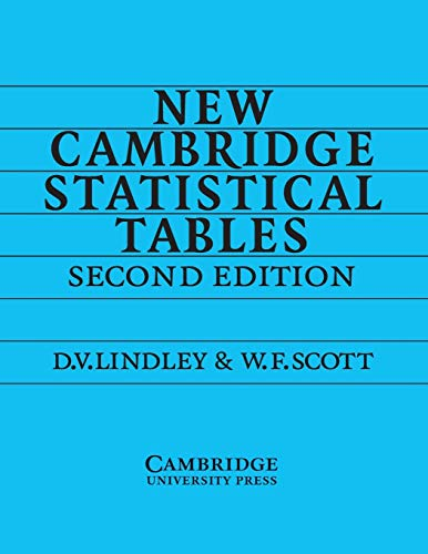 New Cambridge Statistical Tables by D.V. Lindley