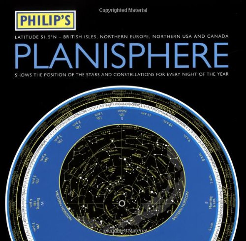 Philip's Planisphere: Northern 51.5 Degrees - British Isles, Northern Europe Northern USA and Canada by Philips
