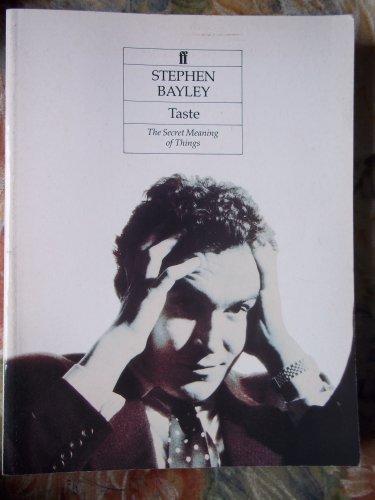 Taste by Stephen Bayley
