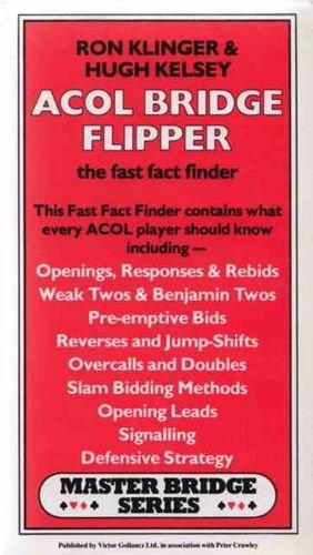 Acol Bridge Flipper: The Fast Fact Finder by Ron Klinger
