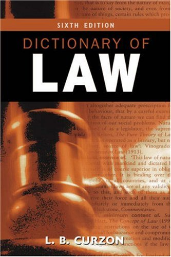 Dictionary of Law by L. B. Curzon