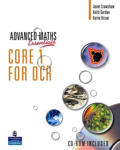 A Level Maths Essentials Core 1 for OCR Book, A Book and CD-ROM by Keith Gordon