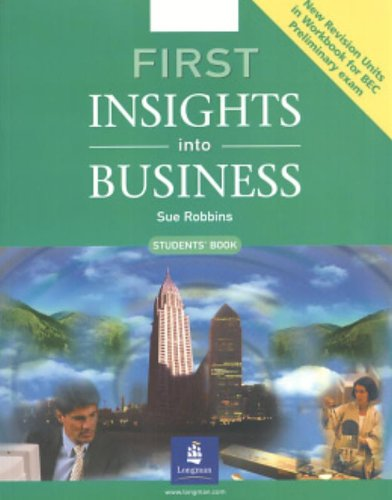 First Insights into Business Student's Book by S. Robbins