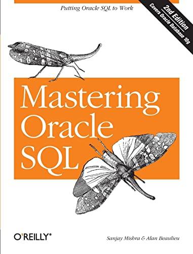 Mastering Oracle SQL by Sanjay Mishra