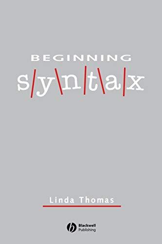 Beginning Syntax by Linda Thomas