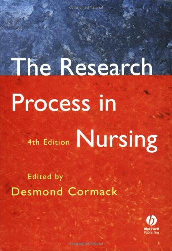 The Research Process in Nursing by D. Cormack