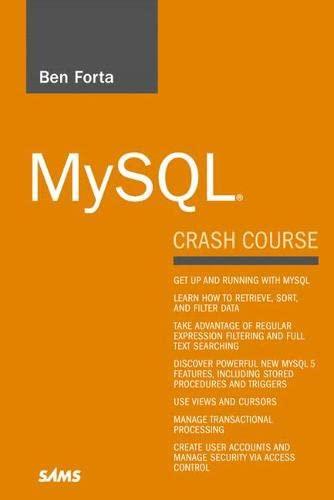 MySQL Crash Course by Ben Forta