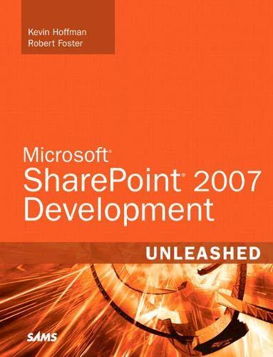 Microsoft SharePoint 2007 Development Unleashed by Kevin Scott Hoffman