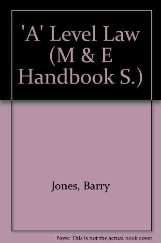Advanced Level Law by Barry Jones