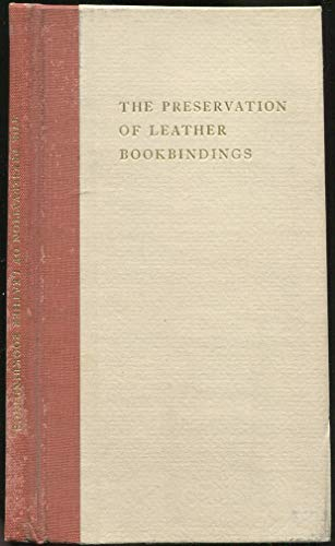Preservation of Leather Bookbindings by H.J. Plenderleith