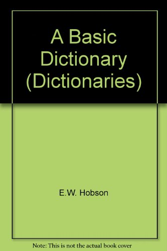 A Basic Dictionary by E.W. Hobson