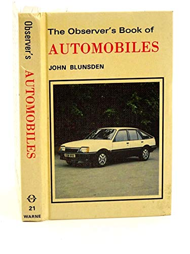 Observer's Book of Automobiles: 1982 by John Blunsden
