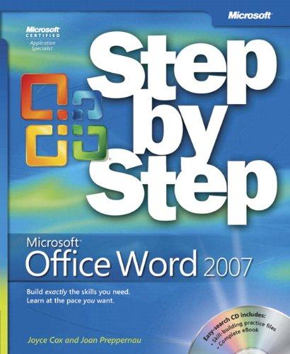 Microsoft Office Word 2007 Step by Step by Joyce Cox