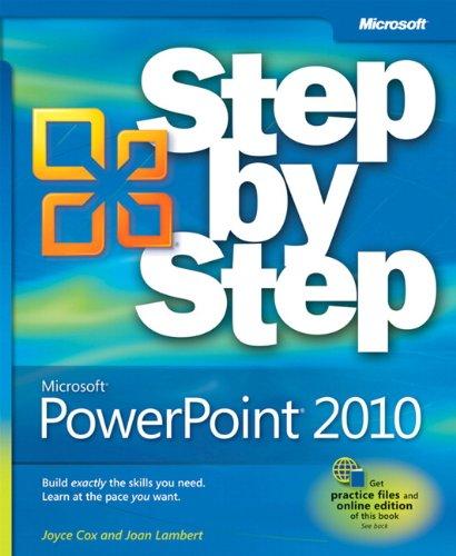 Microsoft PowerPoint 2010 Step by Step by Joyce Cox