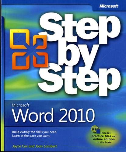 Microsoft Word 2010 Step by Step by Joyce Cox