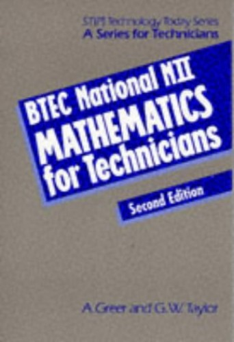 BTEC National NII Mathematics for Technicians by Alan Fuller