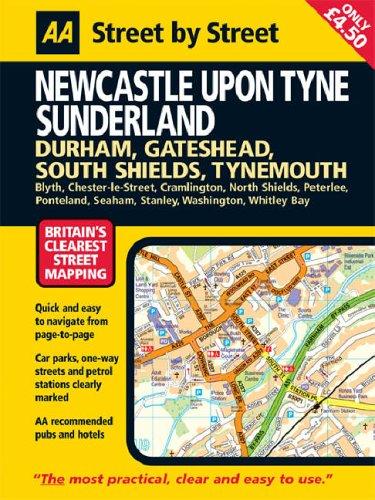 AA Street by Street Newcastle Upon Tyne: Midi by