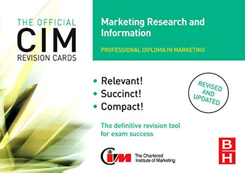 CIM Revision Cards Marketing Research and Information by John Williams