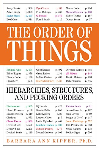 The Order of Things: Hierarchies, Structures and Pecking Orders for the Voraciously Curious by Barbara Ann Kipfer