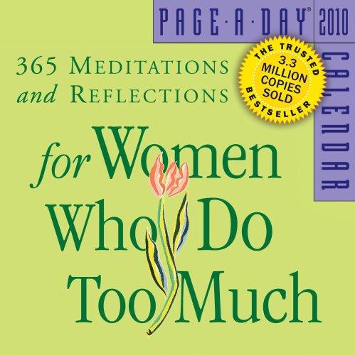 For Women Who Do Too Much Calendar by Anne Wilson Schaef, Ph.D.