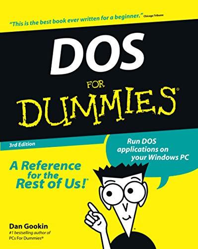 DOS For Dummies by Dan Gookin