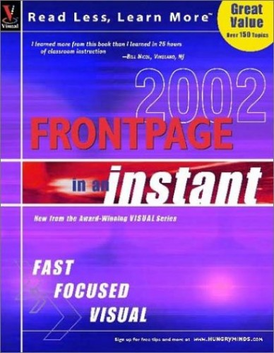 FrontPage 2002 in an Instant by Ruth Maran