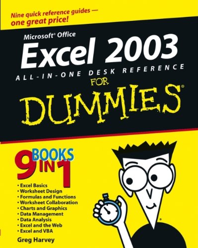 Excel 2003 All-in-one Desk Reference for Dummies by Greg Harvey