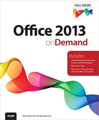 Office 2013 On Demand by Steve Johnson