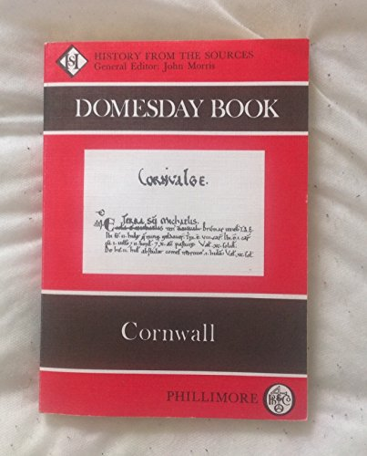 The Domesday Book: Cornwall by John Morris