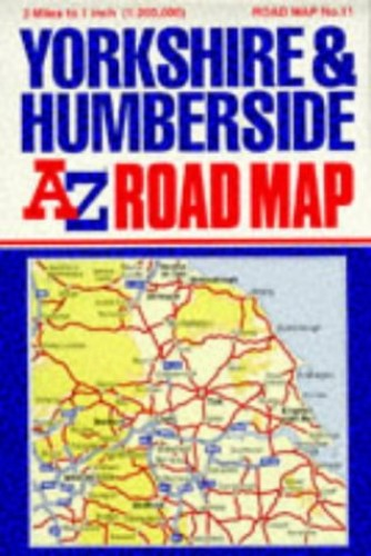 A. to Z. Road Map of Yorkshire and Humberside by Geographers' A-Z Map Company
