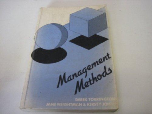 Management Methods by Derek Torrington