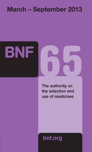 British National Formulary (BNF): March 2013 by Joint Formulary Committee