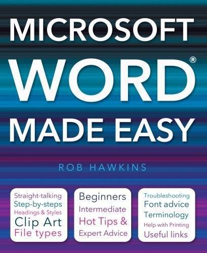 Microsoft Word Made Easy by Rob Hawkins