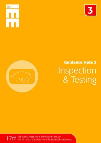Guidance Note 3: Inspection and Testing by Jon Elliot