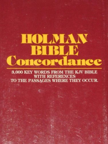 Holman Bible Concordance by