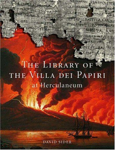 The Library of the Villa Dei Papiri at Herculaneum by David Sider