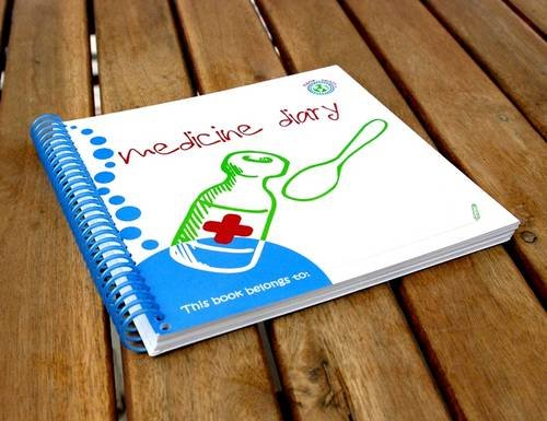 Wipe-able Medicine Diary by Denise Hill