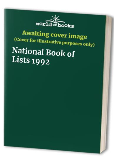 National Book of Lists: 1992 by Kevin Cronin