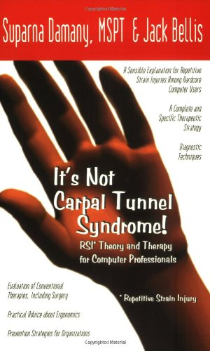 It's Not Carpal Tunnel Syndrome!: RSI Theory and Therapy for Computer Professionals by Suparna Damany, MSPT