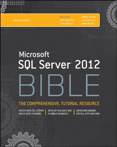 Microsoft SQL Server 2012 Bible by Adam Jorgensen
