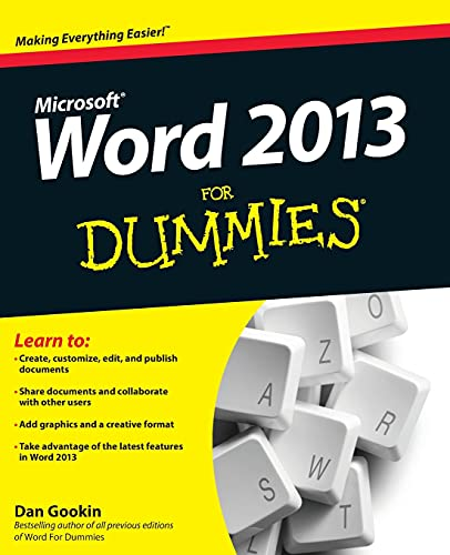 Word 2013 For Dummies by Dan Gookin