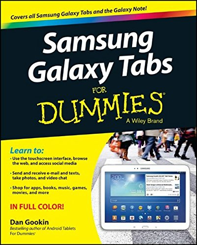 Samsung Galaxy Tabs For Dummies by Dan Gookin