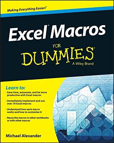Excel Macros For Dummies by Michael Alexander