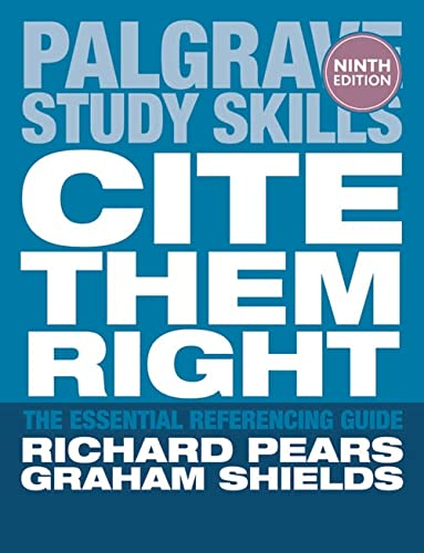Cite Them Right by Richard Pears