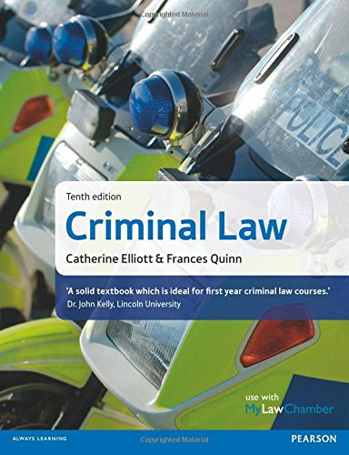 Criminal Law by Catherine Elliott