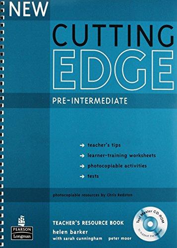 New Cutting Edge Pre-Intermediate Teachers Book and Test Master CD-ROM Pack by Helen Barker