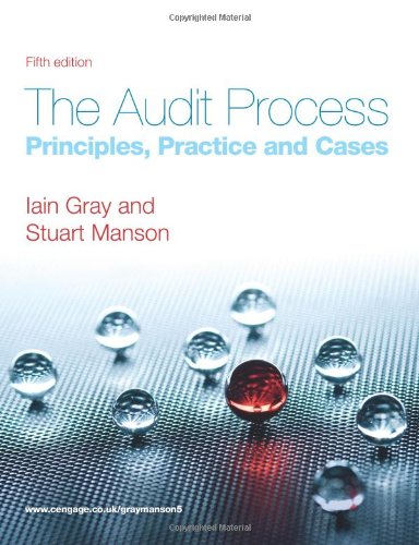 The Audit Process: Principles, Practice and Cases by Iain Gray